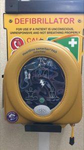 Close up shot of defibrillator